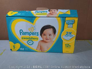 Diapers Size 5, 132 Count - Pampers Swaddlers Disposable Baby Diapers,