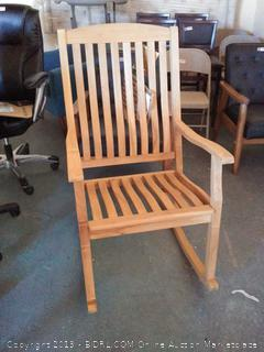 Cambridge-Casual AMZ-130574T Arie Teak Rocking Chair, Natural (Online $229.00)