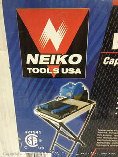"""Neiko 10353A 7"""" Wet Ceramic Tile Saw with Stand, Blade and Laser Guide"""