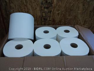 Commercial Hard Roll Towels, 800 Feet Per Roll, 6 Rolls