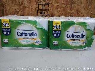 Cottonelle Ultra GentleCare Toilet Paper, Aloe & Vitamin E, 24 Double Rolls