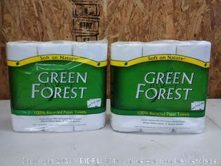 Green Forest 100% Recycled Paper Towels, 2 pack