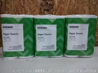 Solimo Paper Towels, 6 Rolls