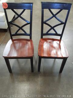 Hagerstown Side Chairs, Cherry & Black, Set of 2