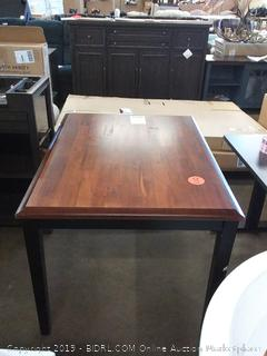 Hagerstown Dining Table, Cherry & Black