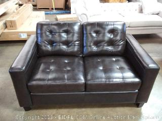 Merano Leather Loveseat by Abbyson Living (Online $849.99)