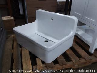 """White Gilford 30"""" x 22"""" Wall Mounted Service Sink (Part number: K-12781-0) (Online $715.53)"""