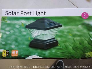 8 Black Outdoor Garden Solar LED Post Deck Cap Square Fence(2pak)