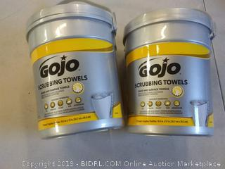 2Pack Gojo scrubbing towels
