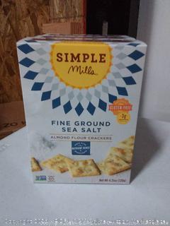 simple Mills fine ground sea salt almond flour crackers 3 pack