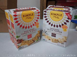 simple Mills 2Pac sun-dried tomato and basil and 2Pac cracked black pepper