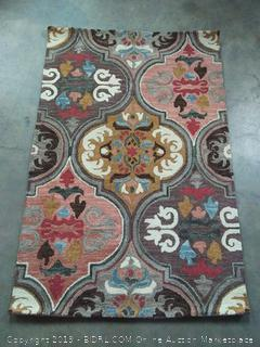 """Momeni Rugs TANGITAN10MTI3656 Tangier Collection, 100% Wool Hand Tufted Tip Sheared Transitional Area Rug, 3'6"""" x 5'6"""", Multicolor"""