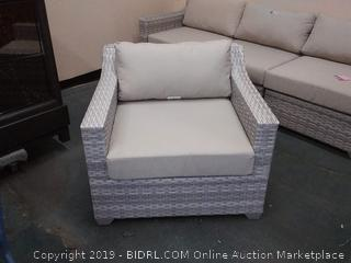 Falmouth Rattan Chair, Color: Acrylic