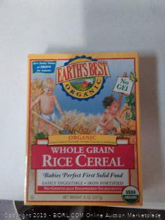 Earth's Best Cereal - Whole Grain Rice 8.00 oz Key Food pack of 4