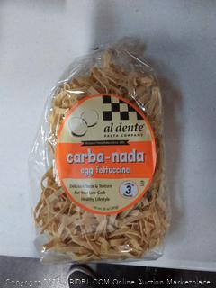 Al Dente Carba-Nada Egg Fettuccine, 10-Ounce Bags (Pack of 6)