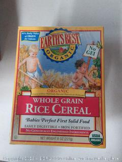 Earth's Best Cereal - Whole Grain Rice 8.00 oz Key Food 4pk