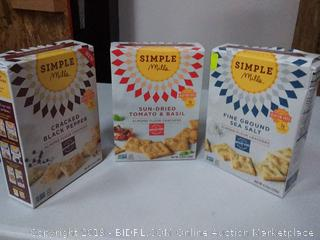 simple Mills variety pack cracked black pepper sun-dried tomato and basil and fine ground sea salt
