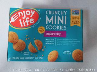 Enjoy Life Crunchy Minis Cookies Gluten Free Sugar Crisp -- 6