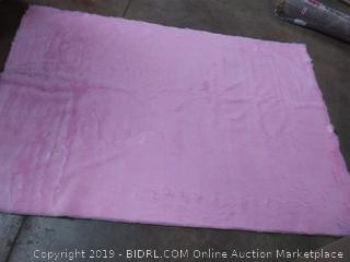 NuLoom Precious 5' x 7' Pink Shag Rug