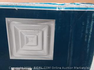 "Accord Ventilation ABCD2X2 Ceiling Diffuser, 24"" x 24"", White (factory sealed) online $51)"
