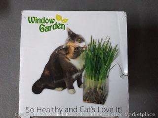 Window Garden Pop-Up Grass, soil with water and seeds