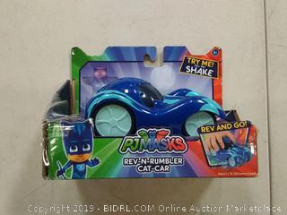 PJ masks rev and Rumble cat car