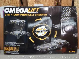 Omega 91452 Black Low Profile Z-Creeper - 450 lbs. Capacity(Factory Sealed/Box Damage) online $92
