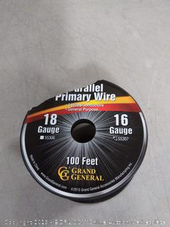 parallel primary wire three wires 100 ft