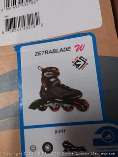 Rollerblade Zetrablade Womens Inline Skates 6.0/Black-Red NEW