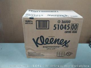Kleenex Expressions Ultra Soft Facial Tissues, 18 Cube Boxes, 65 Tissuesper Box (1, 170 Tissues Total) Factory Sealed