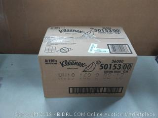 Kleenex Ultra Soft Facial Tissues, 8 Flat Boxes, 120 120 Count Factory Sealed