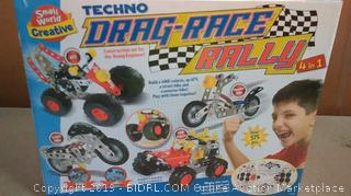 techno drag race rally Constructor set for the young engineer (factory sealed)