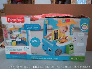 Fisher-Price Laugh & Learn Servin' Up Fun Food Truck(Factory Sealed/Box Damage) COME PREVIEW!!!! (online $59)
