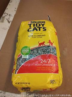 Purina Tidy Cats Non Clumping Cat Litter, 24/7 Performance Multi Cat Litter - (4) 10 lb. Bags