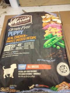 Merrick grain free puppy real chicken and sweet potato recipe 25 lb bag