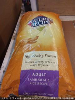 Nature's Recipe high quality protein adult lamb and rice meal adult dog food