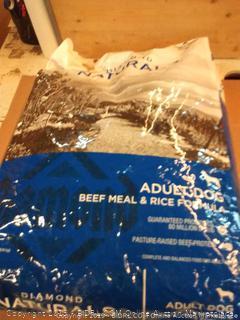 Diamond Naturals adult dog beef meal and rice formula 40 lb bag