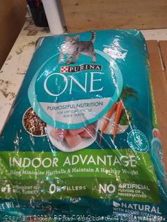 Purina One indoor Advantage adult cat food 22 lb bag