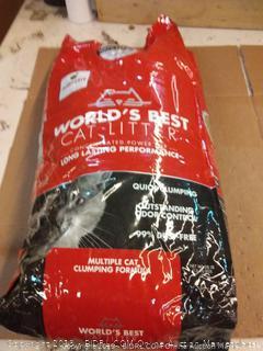 world's best cat litter quick clumping multiple cat formula 28 lb bag