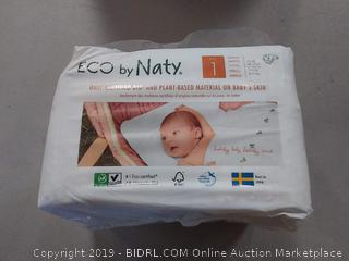 Eco by naty bio and plant-based materials diapers 25-piece to pack