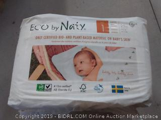 Eco by naty size 1 diapers 25 per pack two pack
