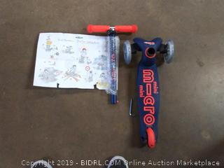 M- cro mini micro Deluxe navy blue scooter