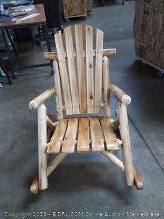 S.T.L. Char Log Rocking Chair (Online $262.28)