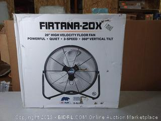 "B-Air FIRTANA-20X High Velocity Electric Industrial and Home Floor Fan, 20""(Factory Sealed/Box Damage) COME PREVIEW!!!!!"