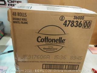 Cottonelle Ultra Gentlecare Toilet Paper, Sensitive Bath Tissue, 48Count