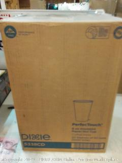 Dixie Perfect Touch 8 oz insulated paper hot cup 20 sleeves
