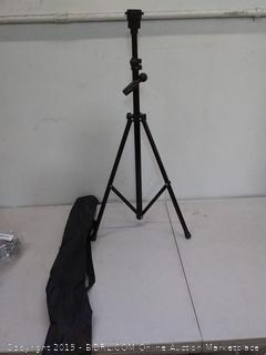Mannequin head tripod black iron bracket adjustable height with travel bag for easy carrying