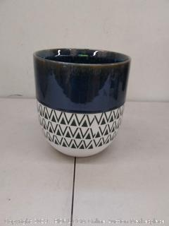 Stone and beam mid-century modern planter 8.46 in