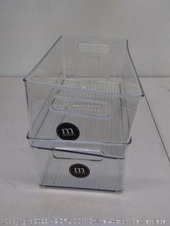 to clear freezer bins 8 x 6 deep bin