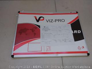viz-pro whiteboard 24 by 18( small Bend in board)